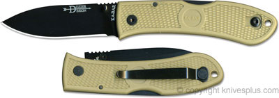 KA-BAR Knives: KABAR Dozier Folding Hunter, Coyote Brown, KA-4062CB
