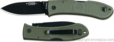 KA-BAR Knives: KABAR Dozier Folding Hunter, Foliage Green, KA-4062FG