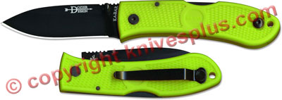 KABAR Dozier Folding Hunter, Zombie Green, KA-4062ZG
