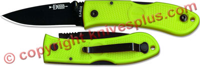 KABAR Mini Dozier Folder, Zombie Green, KA-4072ZG