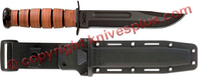KA-BAR Knives: KABAR USMC Fighting-Utility Knife with Synthetic Sheath, KA-5017