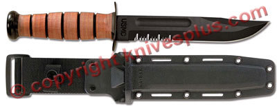 KA-BAR Knives: KABAR USMC Fighting-Utility Knife with Synthetic Sheath, KA-5018