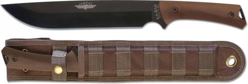 KABAR Jarosz Choppa 7507 Knife Jesse Jarosz Carbon Steel Drop Point Fixed Blade USA Made