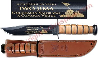 Ka Bar Knives Kabar Iwo Jima Commemorative Knife Us Navy