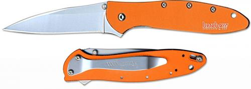 Kershaw Leek, Orange Aluminum, KE-1660OR