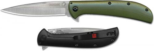 Kershaw AM-4 2330GRN Limited Flipper Folder Assisted Satin Blade Green G10 and SS