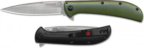 Kershaw AM-3 2335GRN Limited Flipper Folder Assisted Satin Blade Green G10 and SS
