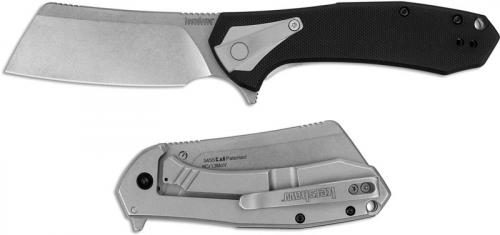 Kershaw Bracket 3455 - Value Priced EDC - Stonewash Cleaver Blade - Black GFN and Stonewash Stainless Steel - SpeedSafe Assist - Flipper Folder