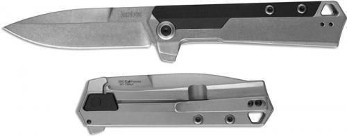Kershaw 3860 Oblivion EDC Assisted Open Flipper Folder 2 Tone Spear Point 2 Tone Steel and GFN Frame Lock