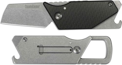 Kershaw Pub 4036CF Knife Dmitry Sinkevich Bottle Opener Multi Tool Carbon Fiber