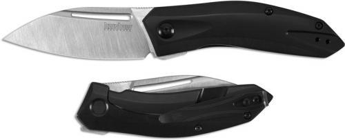 Kershaw Turismo 5505 - 2 Tone Satin D2 Leaf Blade - Black PVD Stainless Steel - SpeedSafe Assist - Flipper Folder