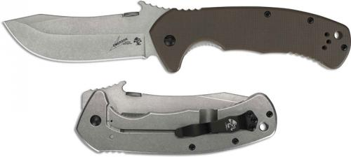 Kershaw Emerson 6031 CQC-11K Knife Emerson Wave Skinner Brown G10 Framelock Folder