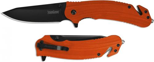 Kershaw Barricade 8650 Rescue Knife Flipper Folder Assisted Opening Orange GFN