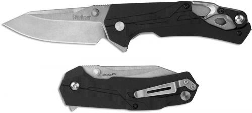 Kershaw Drivetrain 8655 - Rescue Knife - Stonewash D2 Clip Point - Black GFN - SpeedSafe Assist - Flipper Folder