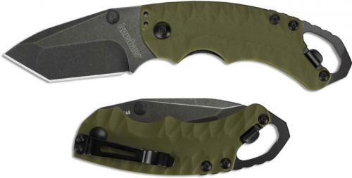 Kershaw Shuffle II 8750TOLBW Knife EDC BlackWash Tanto Olive GFN Liner Lock Folder