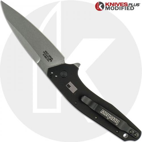 ENGRAVED Kershaw Dividend 1812BLK Knife - M390 Blade Steel - Nautical Star
