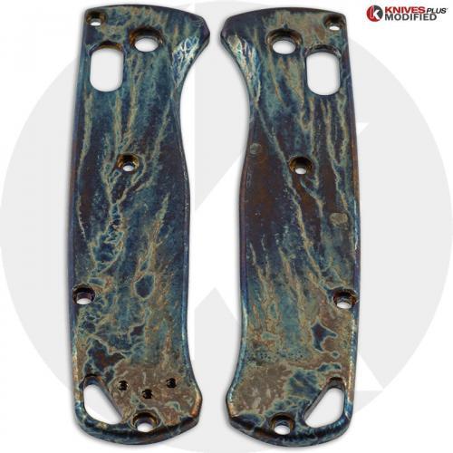 MODIFIED Flytanium Titanium Scales for Benchmade 535 Bugout Knife - MAYHEM FINISH