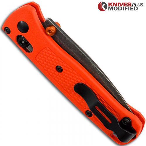 MODIFIED Benchmade Mini Bugout 533 Knife - Acid Stonewash