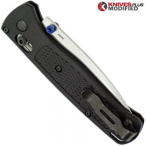 MODIFIED Benchmade Bugout 535 Knife - Satin Blade - BLACK Rit Dye Handle