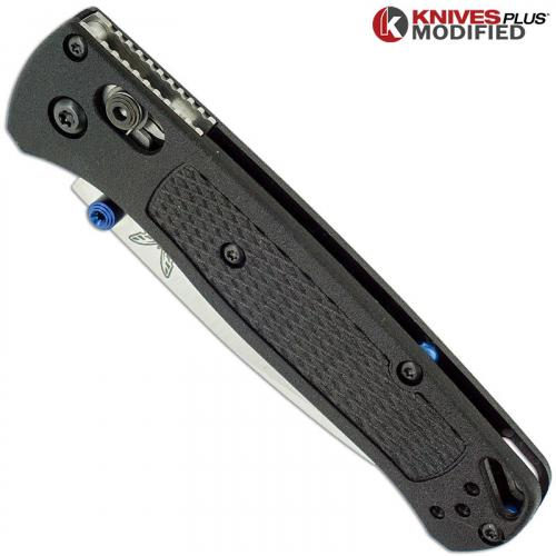 MODIFIED Benchmade Bugout 535 Knife - Satin Blade - BLACK Rit Dye Handle