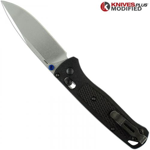 Modified Benchmade Bugout 535 Knife Satin Blade Black