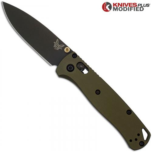 MODIFIED Benchmade Bugout 535GRY-1 Knife + AWT OD Green Aluminum Scales