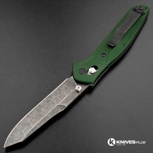 MODIFIED Benchmade 940 Osborne Knife - Acid Stonewashed - Aluminum Handle