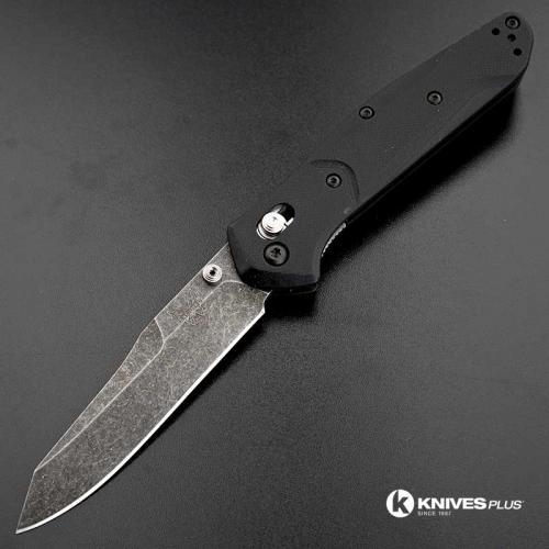 MODIFIED Benchmade 940-2 Osborne Knife - Acid Stonewash - G10 Handle