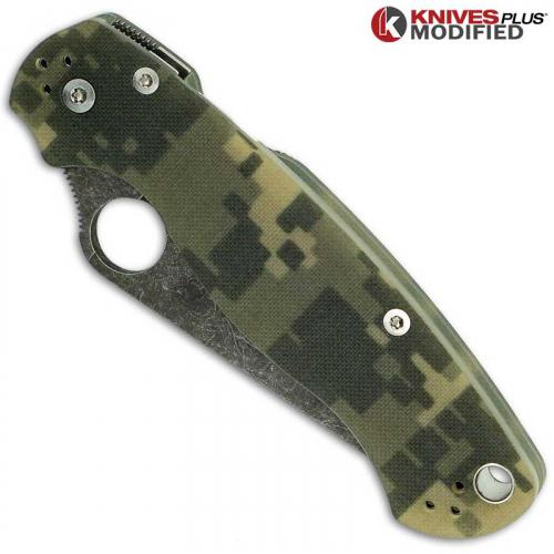 MODIFIED Spyderco Para Military 2 - Acid Stonewash - Digital Camo G10