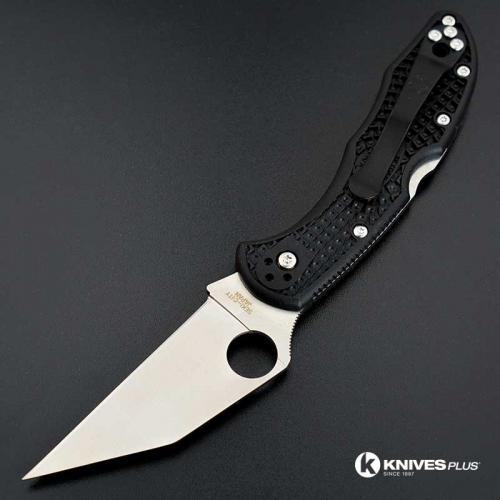 MODIFIED Spyderco Delica 4 Wharncliffe - Regrind - Satin Blade