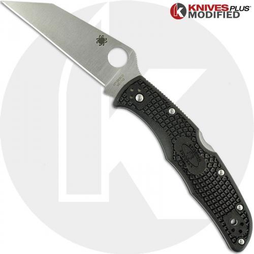 MODIFIED Spyderco Endura 4 Wharncliffe - Regrind - Satin Blade