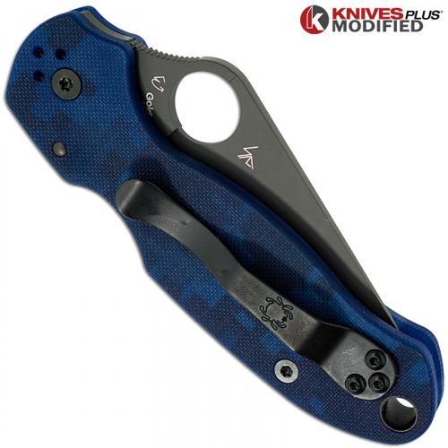 MODIFIED Spyderco Para 3 Knife - Urban Digital Camo - Rit Dyed Handle