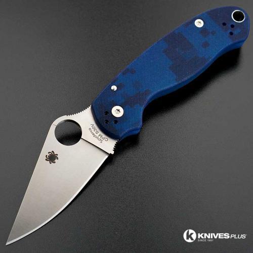MODIFIED Spyderco Para 3 Knife - Urban Digital Camo - Satin Blade - Rit Dyed Handle