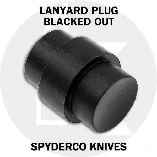 KP Custom Lanyard Plug for Spyderco Para Military 2 or Para 3 Knife - Black Stainless Steel