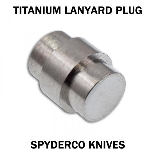 KP Custom Titanium Lanyard Plug for Spyderco Para Military 2 or Para 3 Knife
