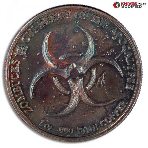 MODIFIED Copper Zombucks - Currency of the Apocalypse - The Saint - Toned