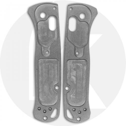 KP Custom Titanium Scales for Benchmade Mini Bugout Knife - Stonewash Finish