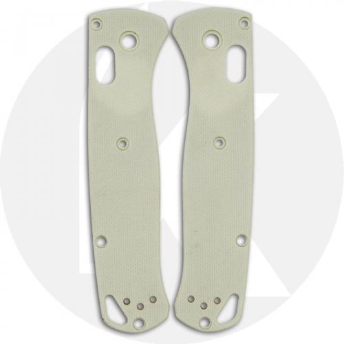KP Custom G10 Scales for Benchmade Bugout Knife - Bone White