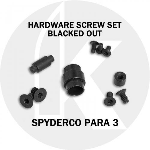 Replacement Screw Set for Spyderco Para 3 - Stainless Steel - Blacked Out