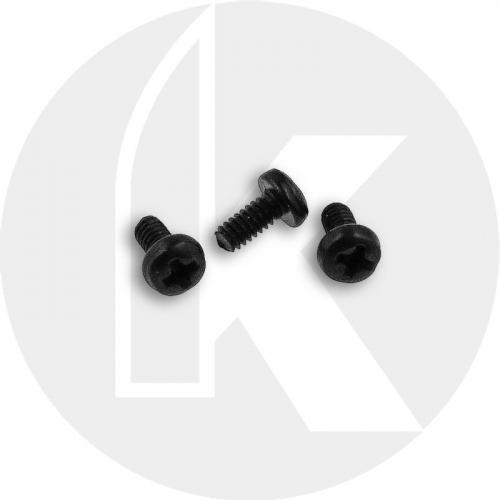 Replacement Clip Screws - Spyderco Para Military 2, Para 3, Yojimbo 2 - Pan Head - Phillips - Black Oxide
