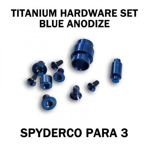 Titanium Replacement Screw Set for Spyderco Para 3 Knife