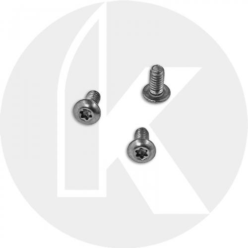 Titanium Replacement Clip Screws for Benchmade Mini Griptilian Knife - 555, 556, 557 Models - Button Head - T6 - Set of 3