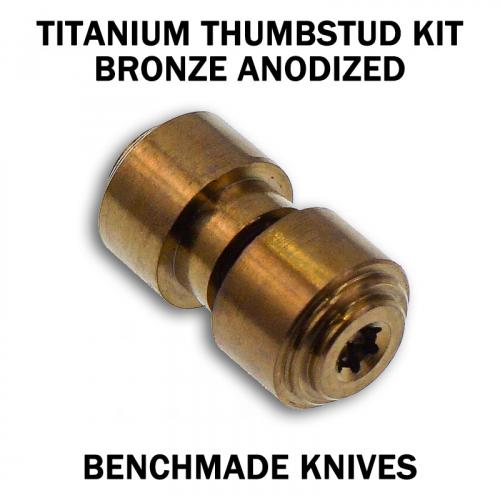 KP Custom Titanium Thumbstud for Benchmade Knife - Bronze Anodized