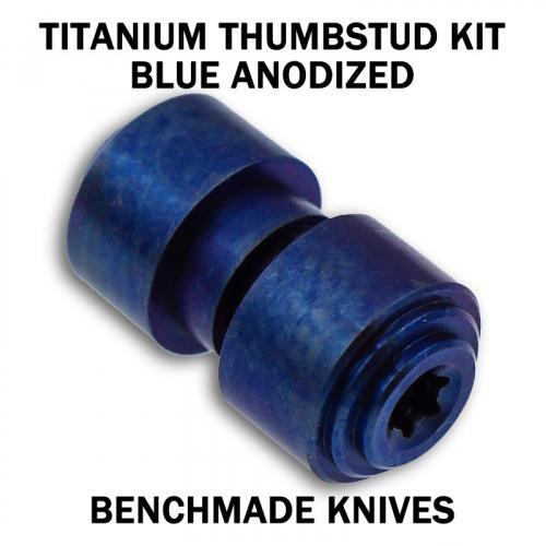 KP Custom Titanium Thumbstud for Benchmade Knife - Blue Anodized