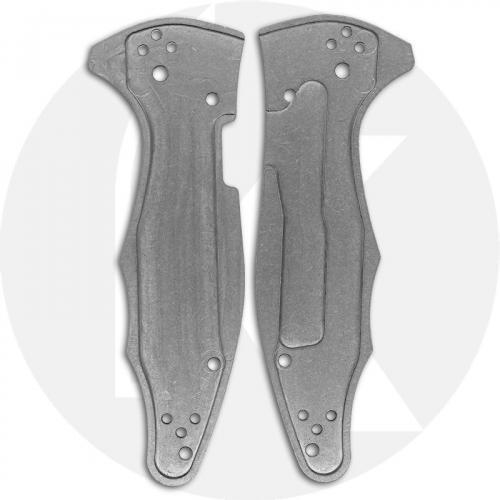 KP Custom Titanium Scales for Spyderco Yojimbo 2 Knife - Stonewash Finish