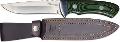 Katz Knives: Katz Drop Point Hunter, A3 Green Micarta, KZ-A3GM