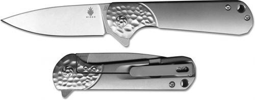 Kizer Envoy Ki3493 Azo EDC Gent Frame Lock Flipper Knife Drop Point with Titanium Handle