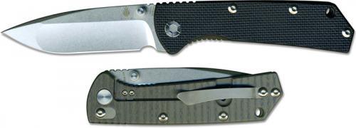 Kizer V3 Vigor Ki403A2 EDC Drop Point Frame Lock Folding Knife Black G10 and Titanium