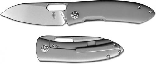 Kizer Wanderer Ki4500 Justin Lundquist EDC Frame Lock Folder Sheepfoot with Titanium Handle