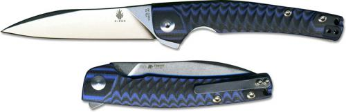 Kizer Vanguard Splinter V3457A3 TomCat Knives Flipper Folder Sheepfoot with Blue Black G10